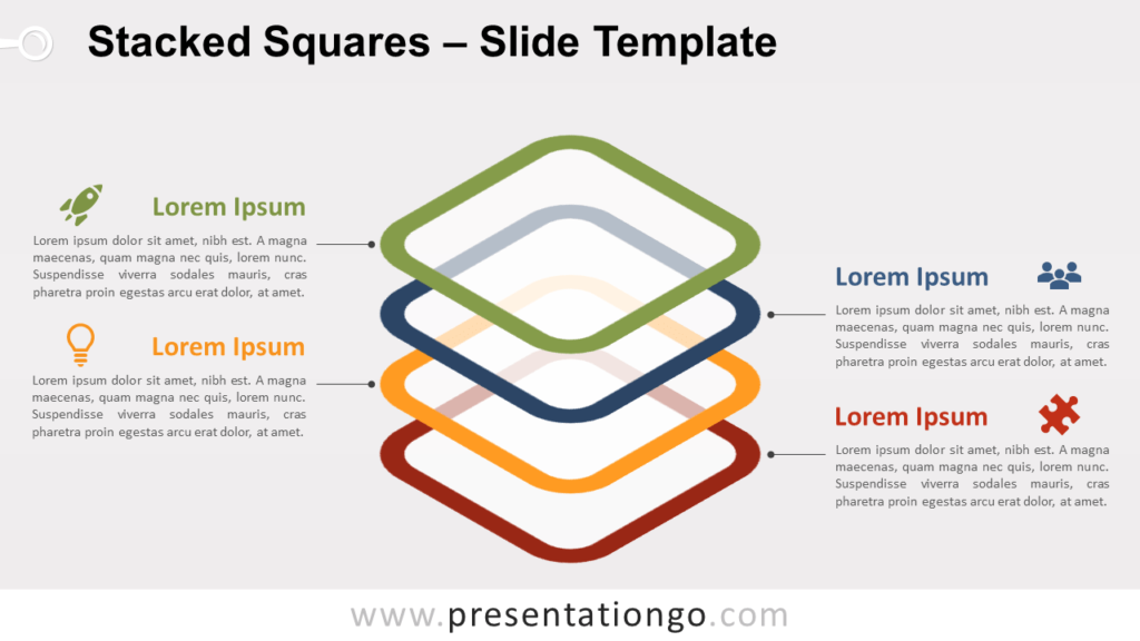 Free Stacked Squares for PowerPoint