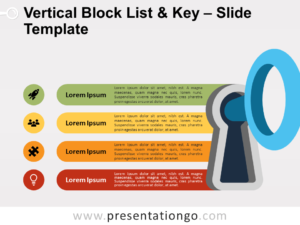 Free Vertical Block List and Key for PowerPoint