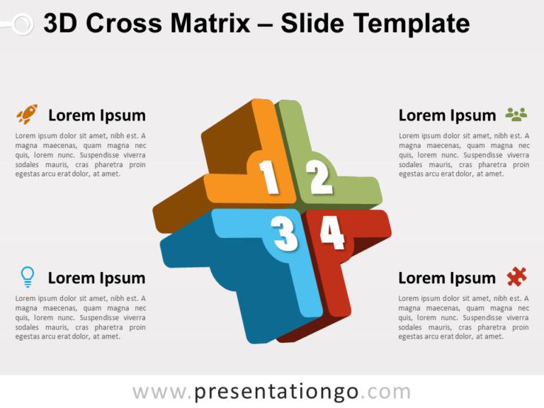 Free 3D Cross Matrix for PowerPoint