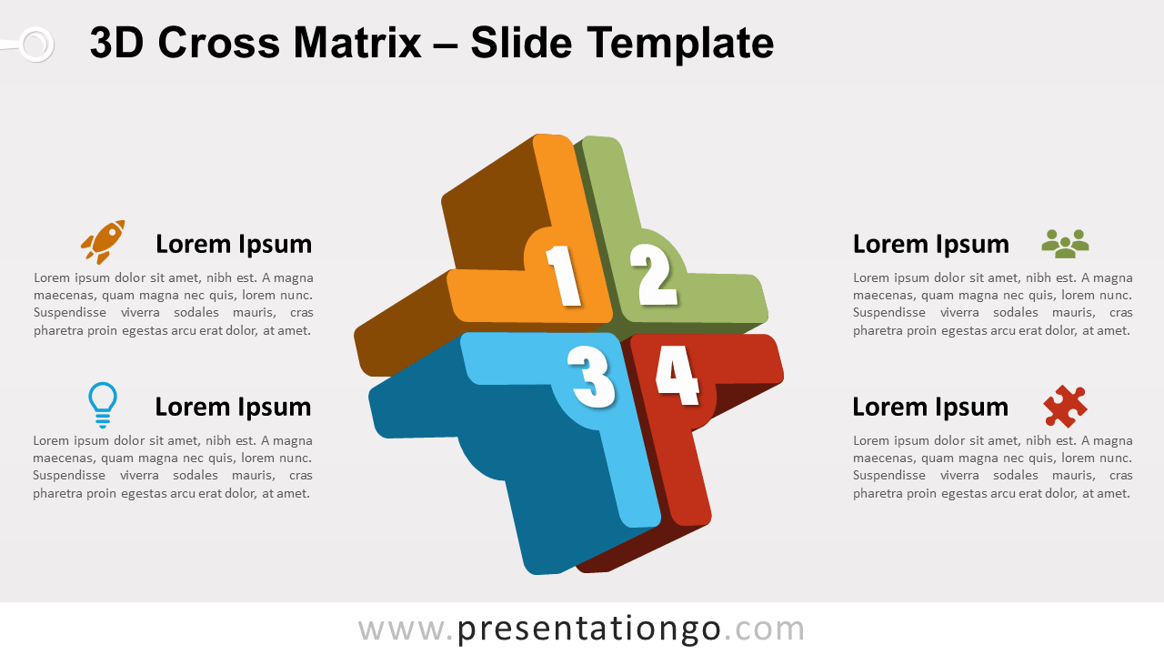 Free 3D Cross Matrix for PowerPoint and Google Slides