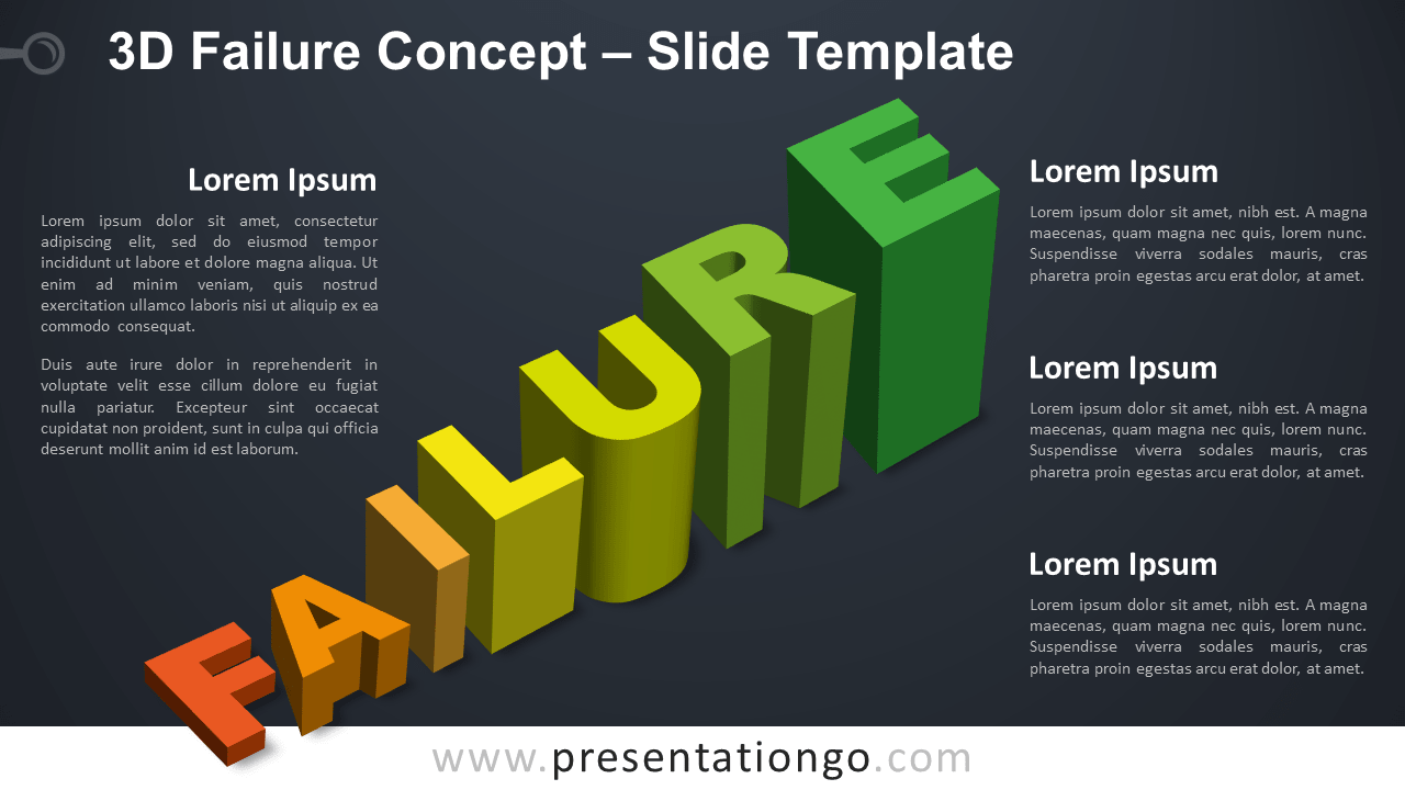 Free 3D Failure Infographic for PowerPoint and Google Slides