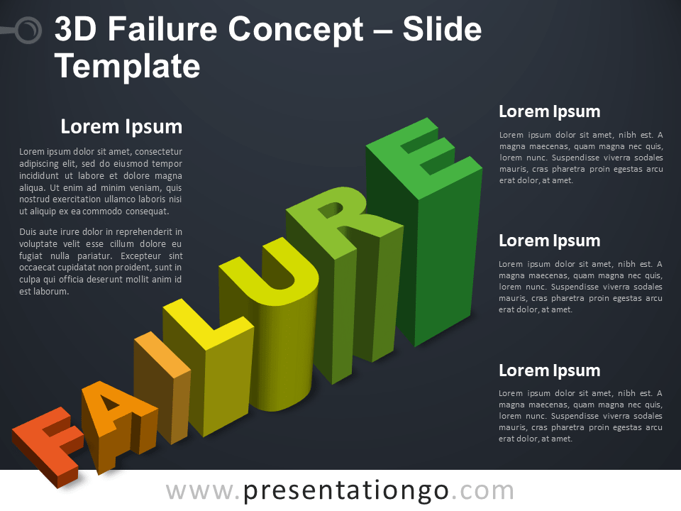 Free 3D Failure Infographic for PowerPoint