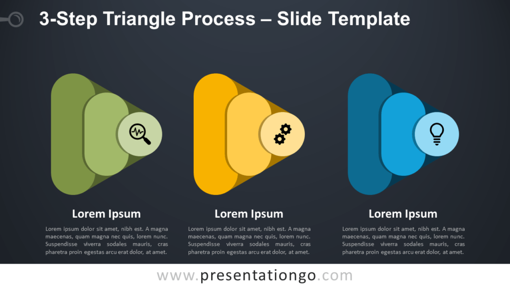 Free 3-Step Triangle Process Infographic for PowerPoint and Google Slides