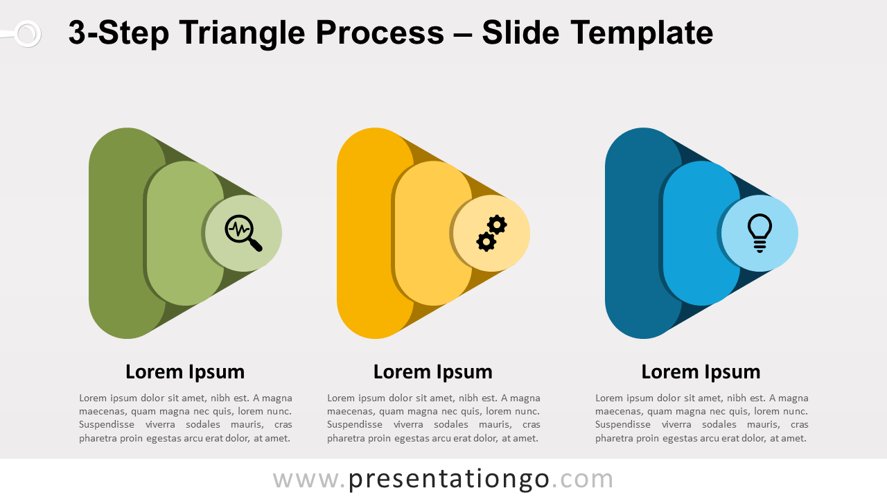 Free 3-Step Triangle Process for PowerPoint and Google Slides