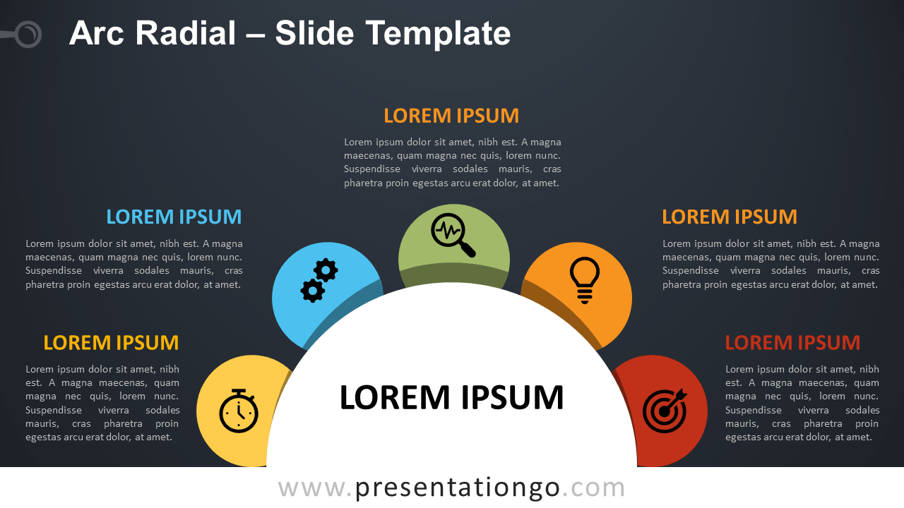 Free Arc Radial Infographic for PowerPoint and Google Slides