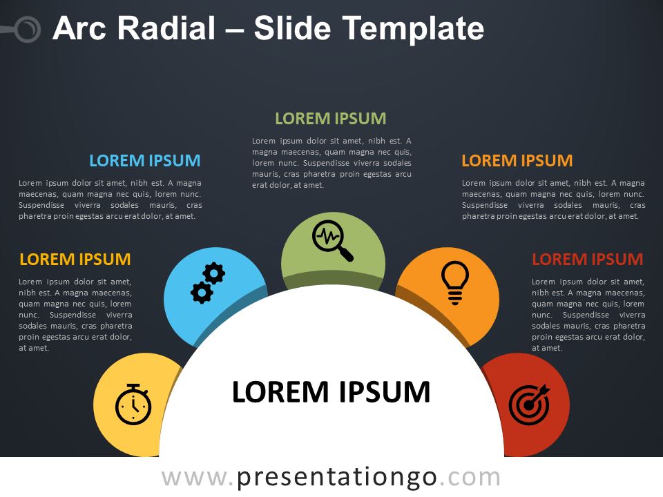 Free Arc Radial Infographic for PowerPoint
