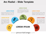 Free Arc Radial for PowerPoint