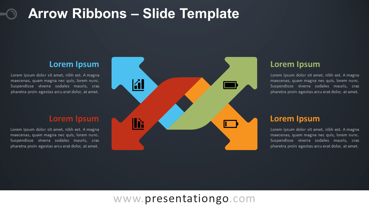 Free Arrow Ribbons Infographic for PowerPoint and Google Slides