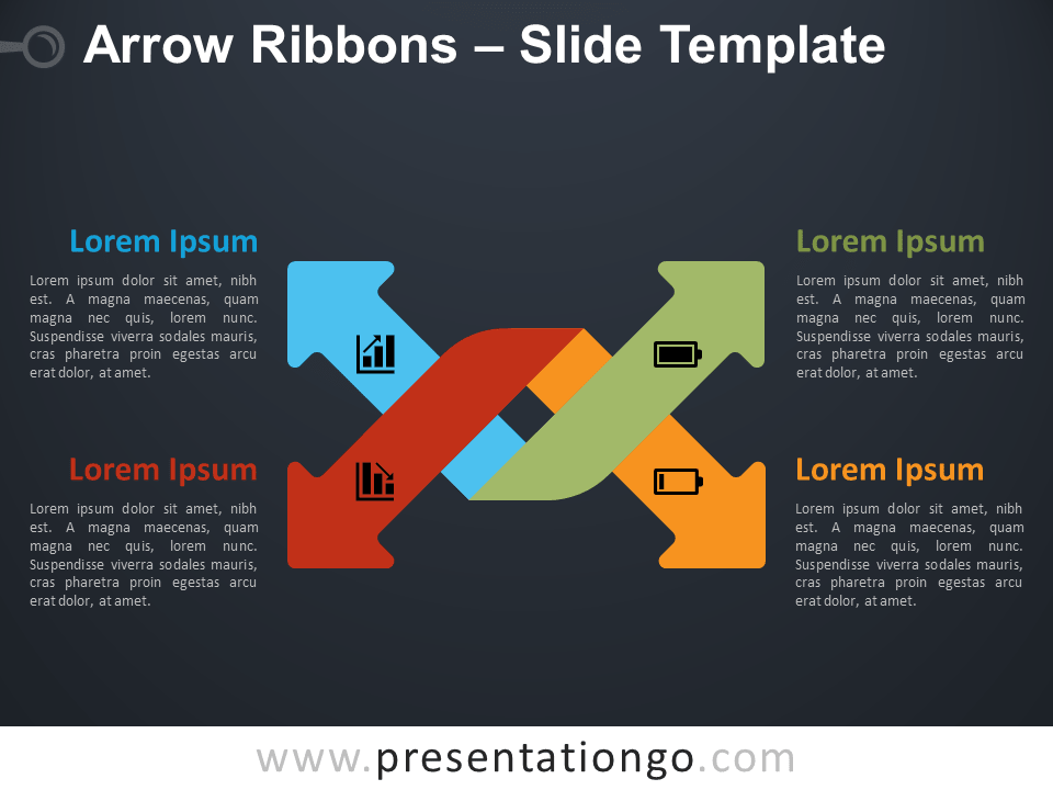 Free Arrow Ribbons Infographic for PowerPoint