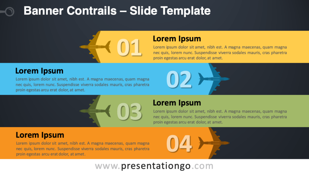 Free Banner Contrails Infographic for PowerPoint and Google Slides