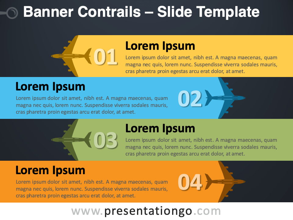 Free Banner Contrails Infographic for PowerPoint