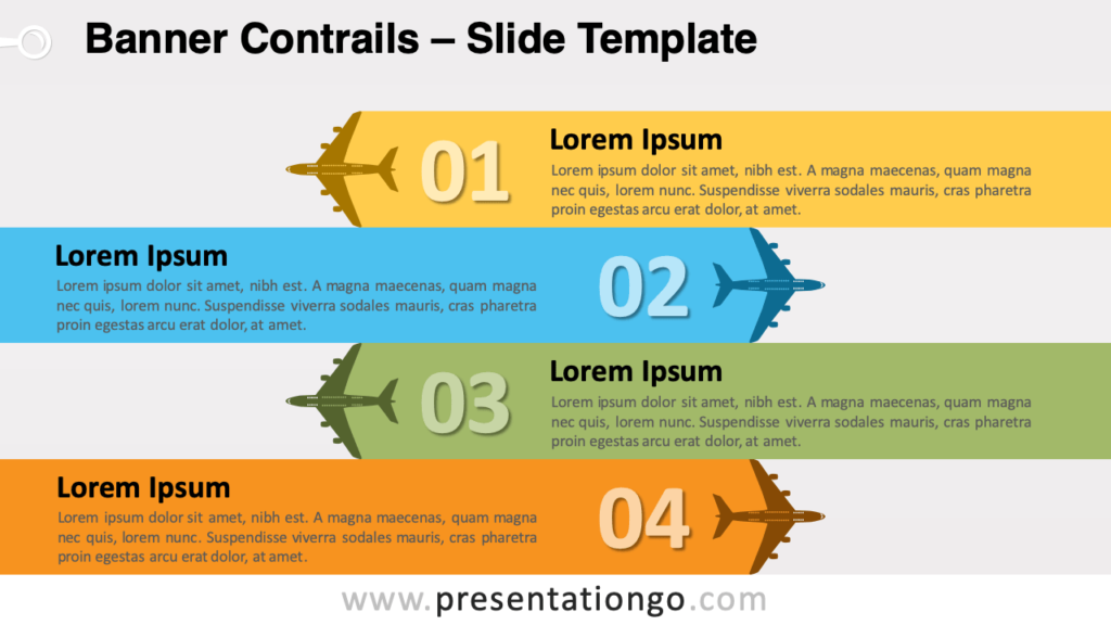 Free Banner Contrails for PowerPoint and Google Slides