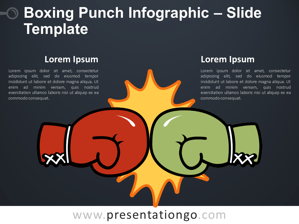 Free Boxing Punch Infographic for PowerPoint