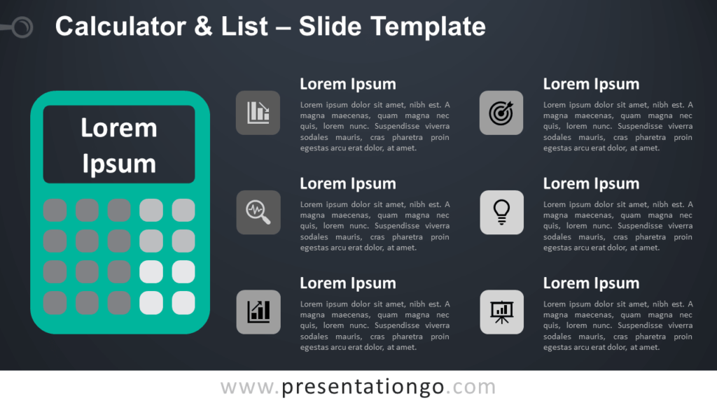 Free Calculator List Infographic for PowerPoint and Google Slides