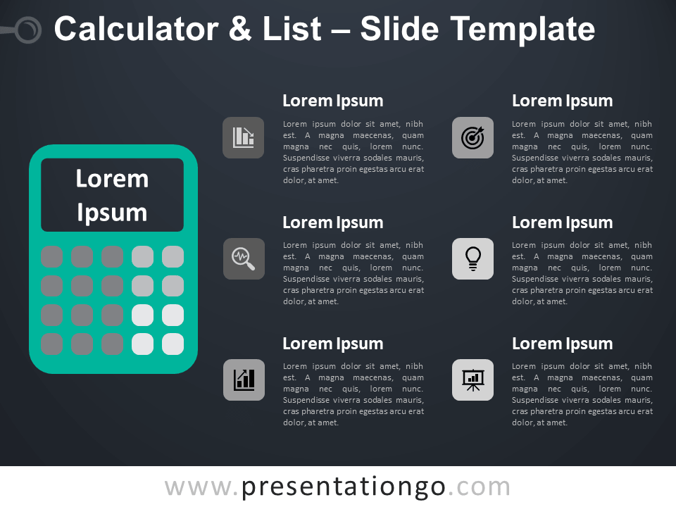 Free Calculator List Infographic for PowerPoint
