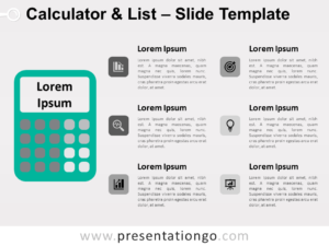 Free Calculator List for PowerPoint