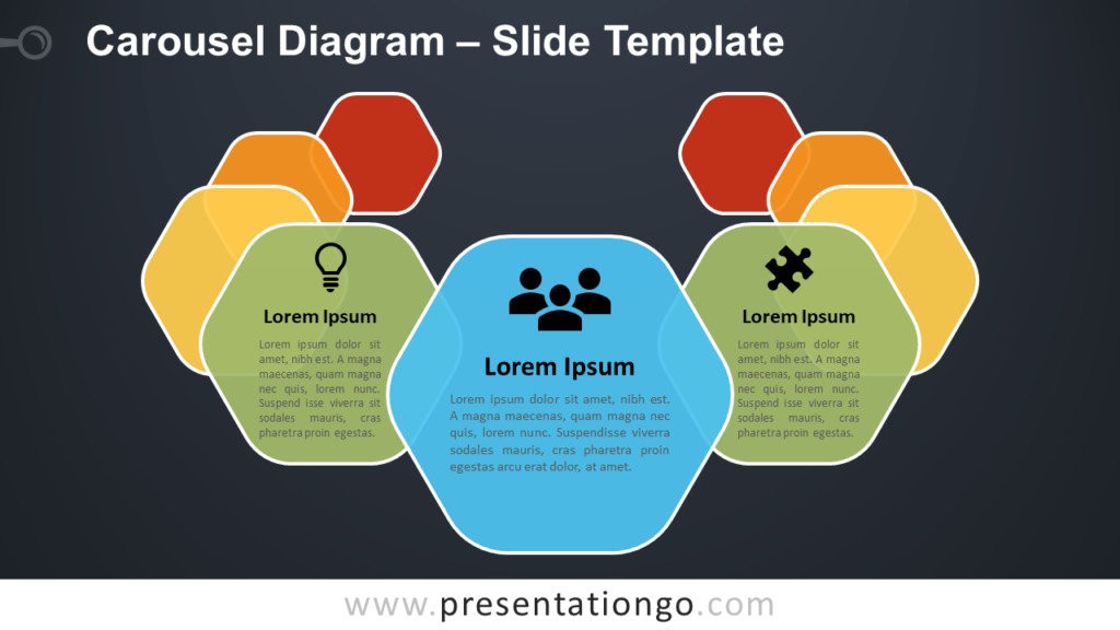 Free Carousel Diagram Infographic for PowerPoint and Google Slides
