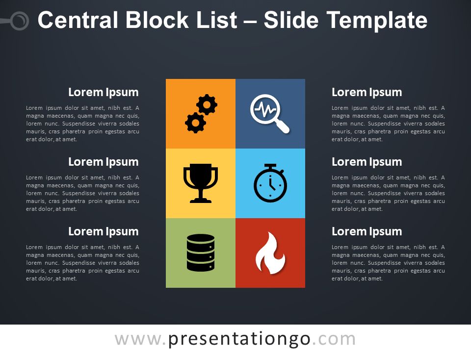 Free Central Block List Infographic for PowerPoint