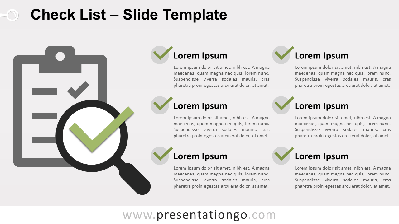 Free Check List Template for PowerPoint and Google Slides