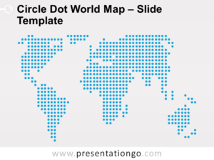 Free Circle Dot World Map For PowerPoint