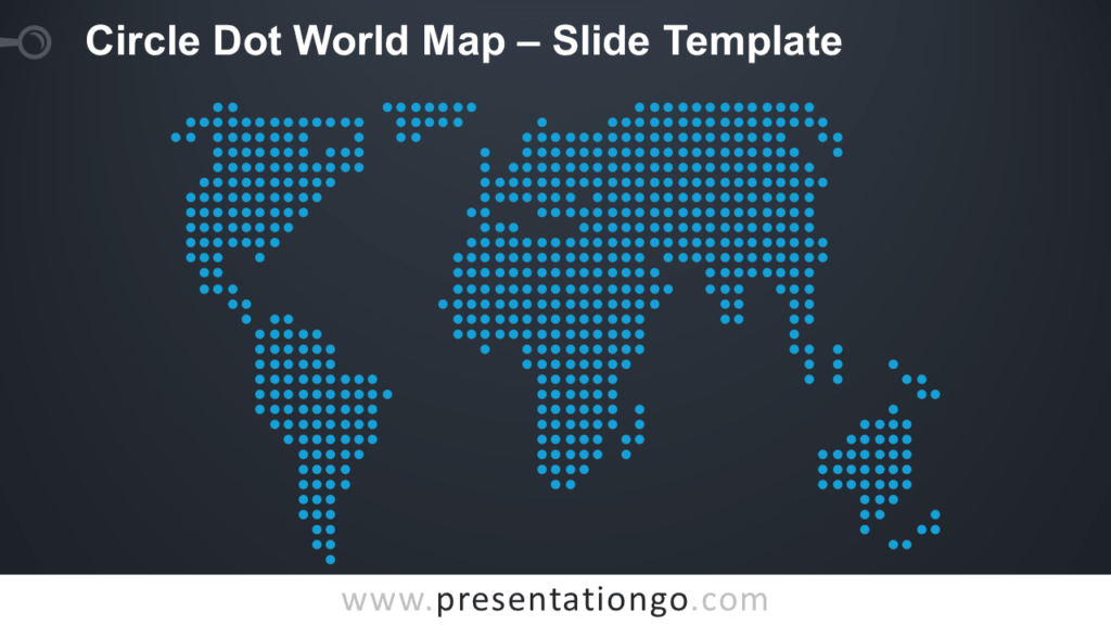 Free Circle Dot World Map for PowerPoint and Google Slides
