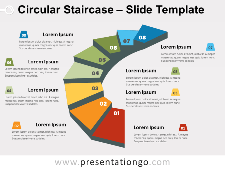Free Circular Staircase for PowerPoint