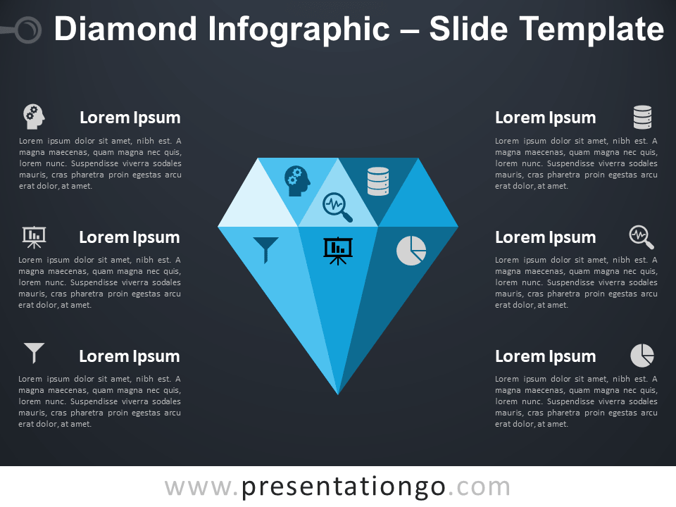 Free Diamond Infographic for PowerPoint