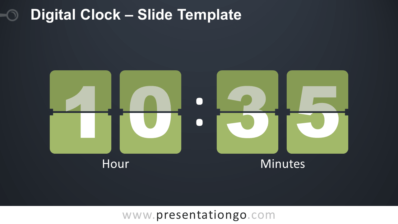 Free Digital Clock Infographic for PowerPoint and Google Slides