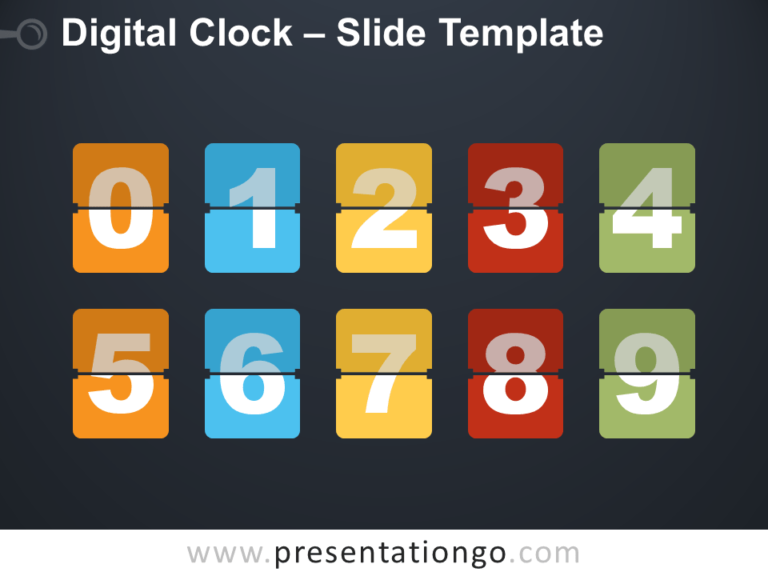 Free Digital Clock for PowerPoint