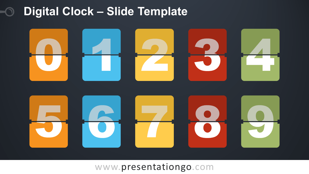 Free Digital Clock for PowerPoint and Google Slides