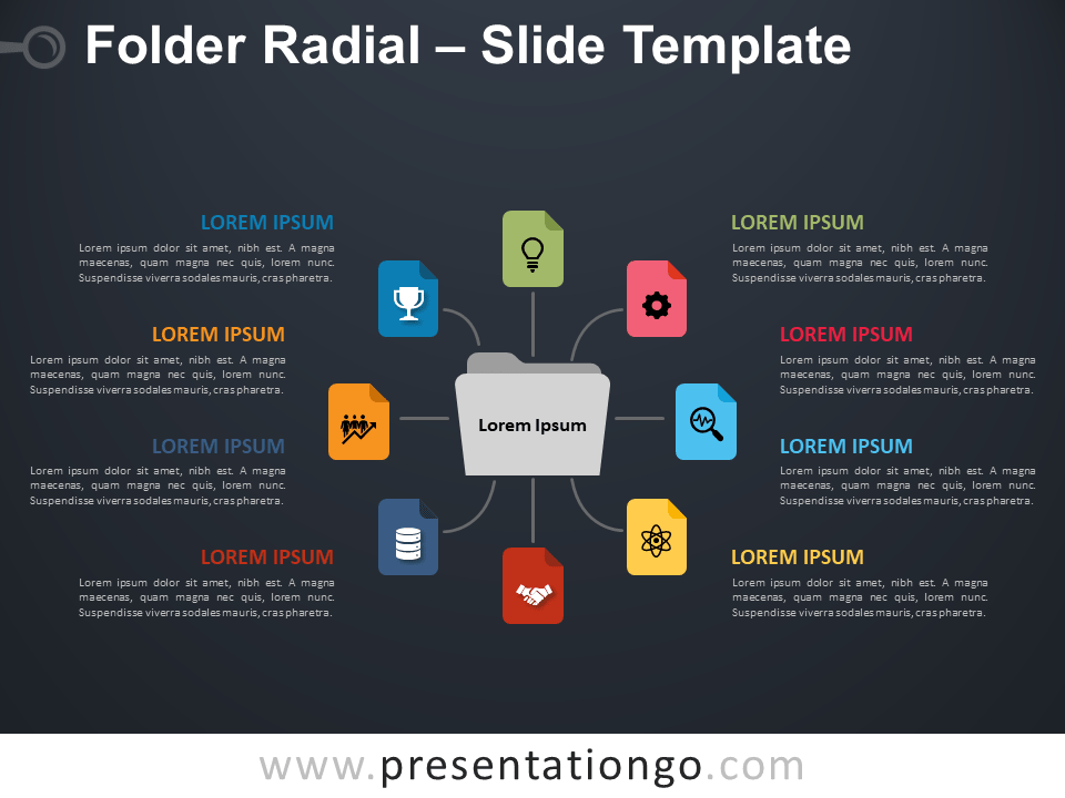 Free Folder Radial Infographic for PowerPoint