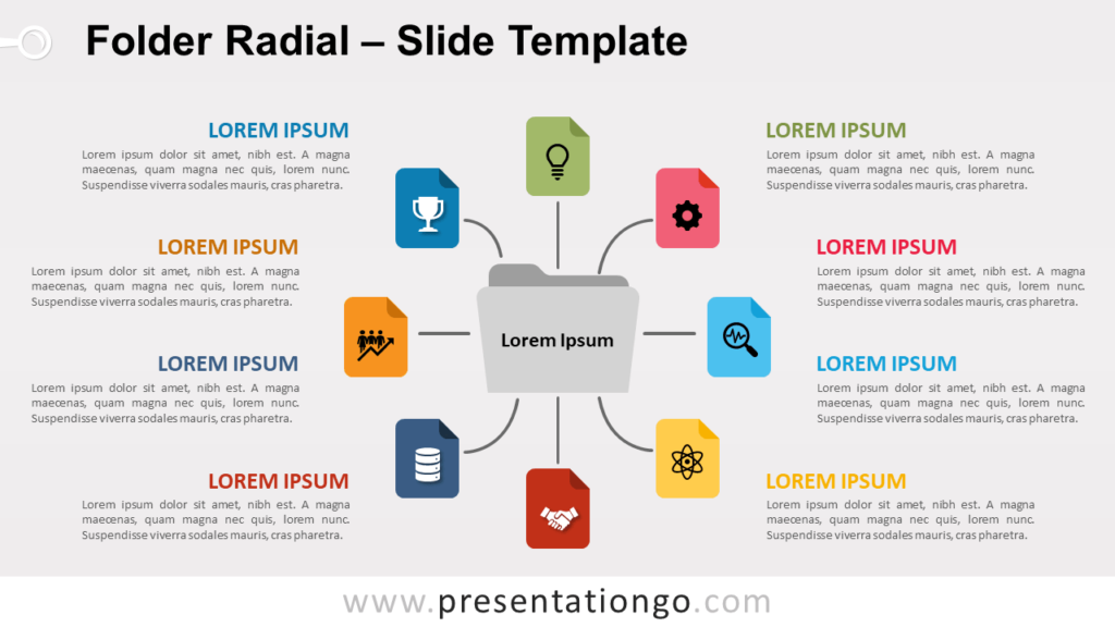 Free Folder Radial for PowerPoint and Google Slides