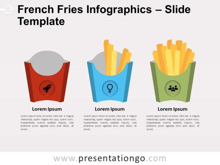Free French Fries Infographic for PowerPoint