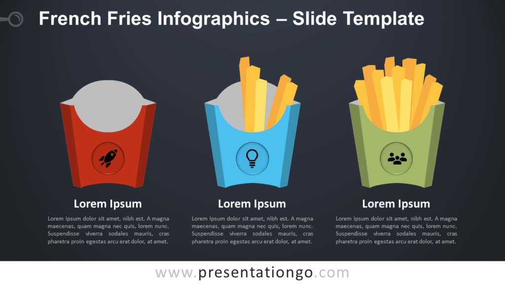 Free French Fries Infographics for PowerPoint and Google Slides