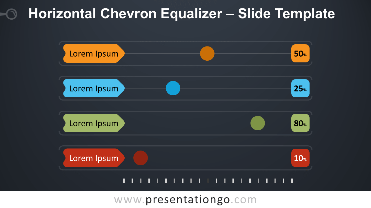 Free Horizontal Chevron Equalizer Infographic for PowerPoint and Google Slides