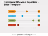 Free Horizontal Chevron Equalizer for PowerPoint