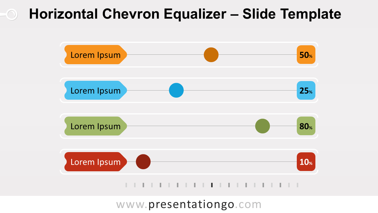 Free Horizontal Chevron Equalizer for PowerPoint and Google Slides