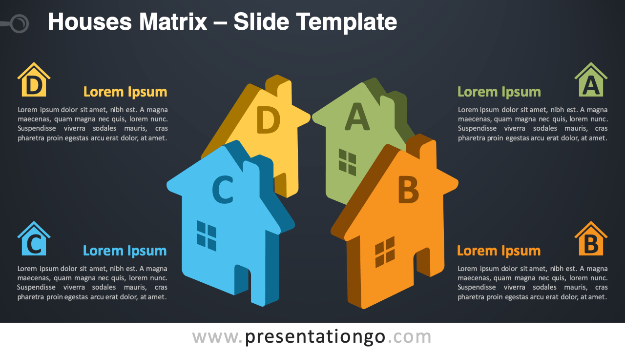 Free Houses Matrix Infographic for PowerPoint and Google Slides
