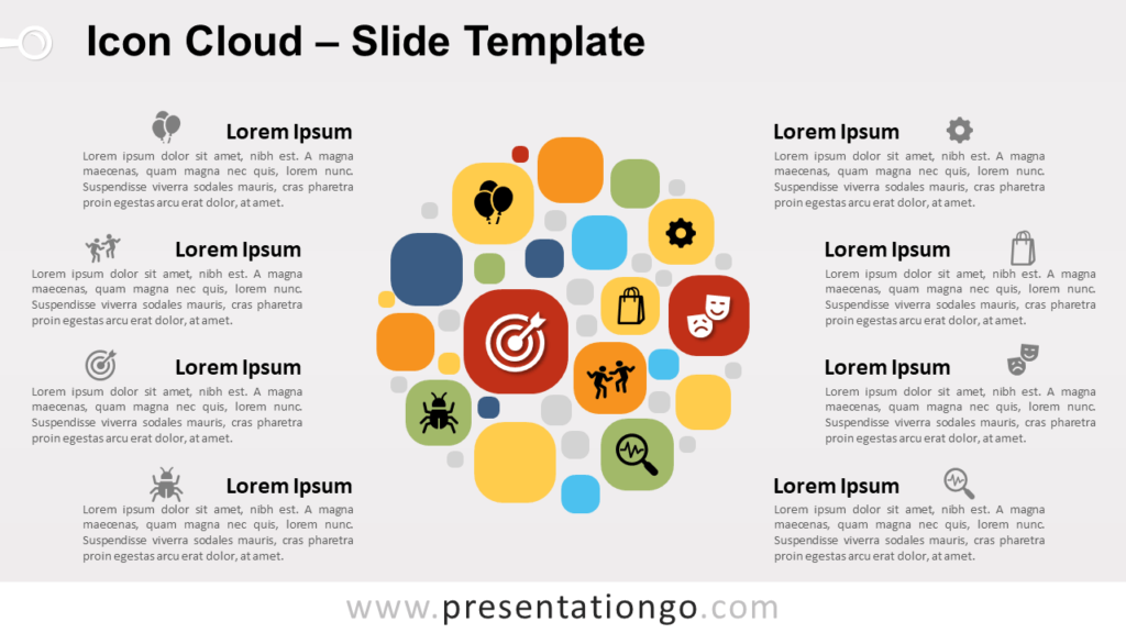 Free Icon Cloud for PowerPoint and Google-Slides