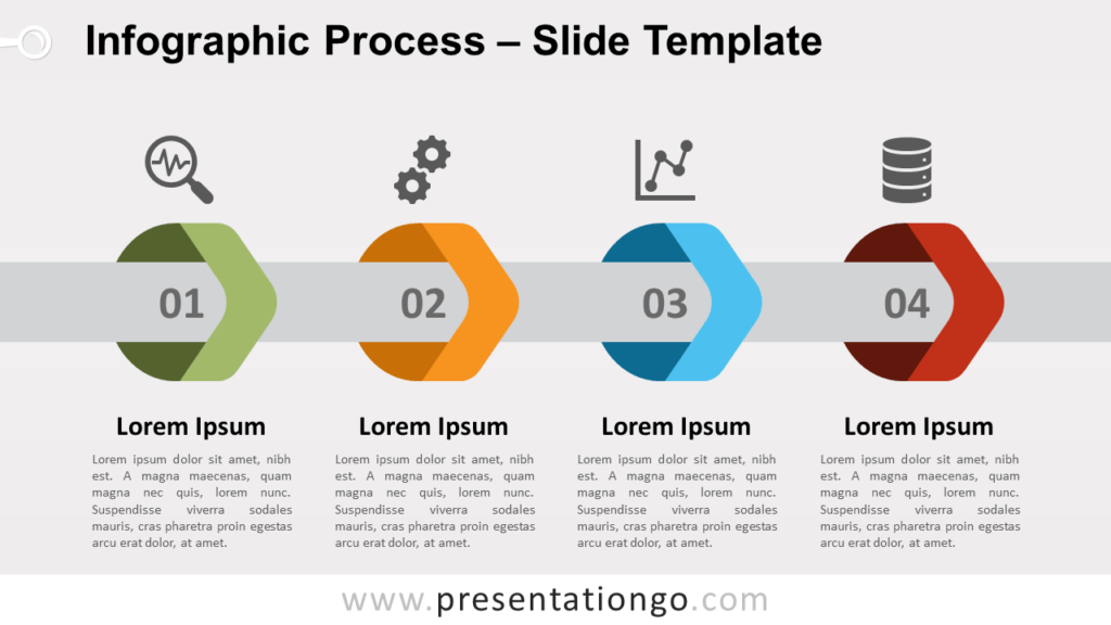 Free Infographic Arrows Process for PowerPoint and Google Slides