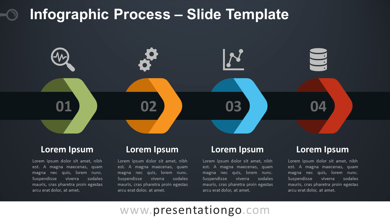 Free Infographic Process for PowerPoint and Google Slides
