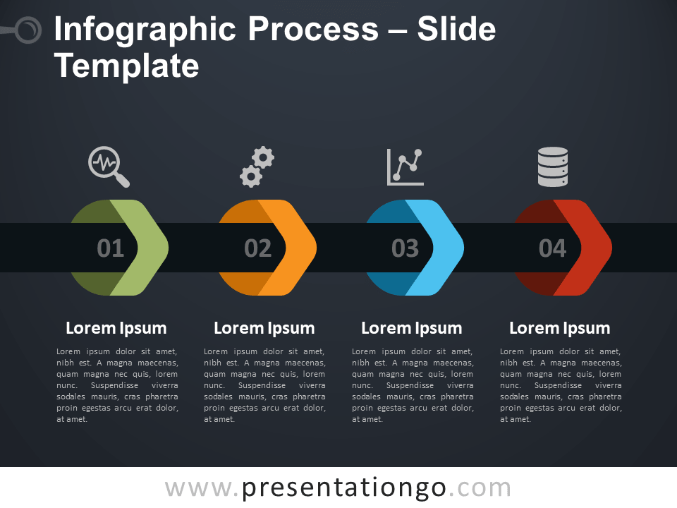 Free Infographic Process for PowerPoint