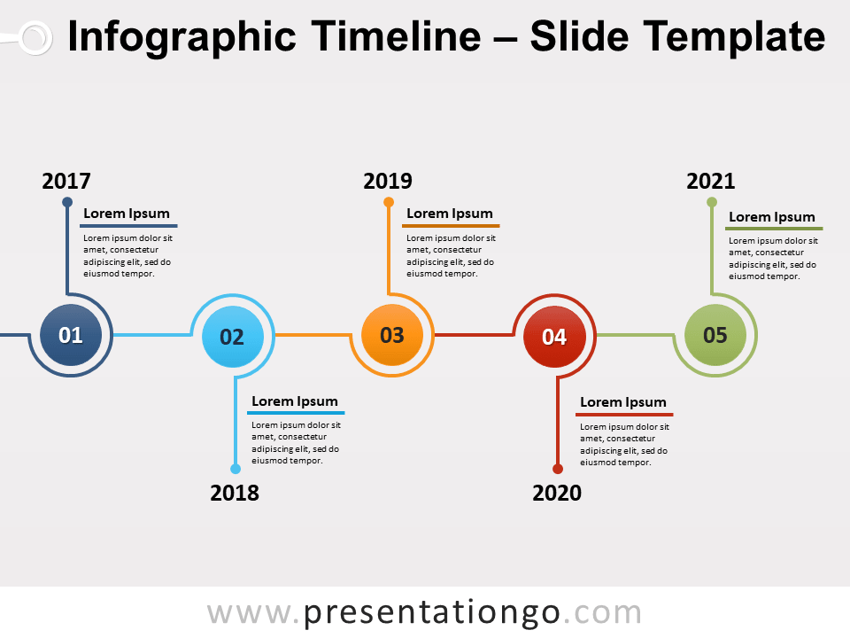 Free Infographic Timeline Infographic Slide for PowerPoint and Google Slides