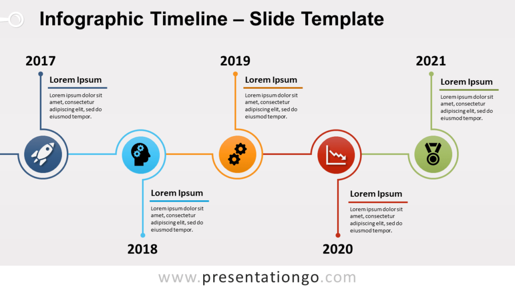 Free Infographic Timeline for PowerPoint and Google Slides