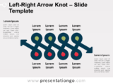 Free Left Right Arrow Knot for PowerPoint
