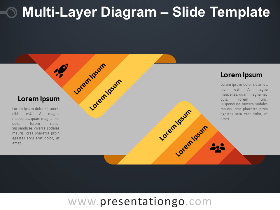 Free Multi-Layer Diagram Infographic for PowerPoint