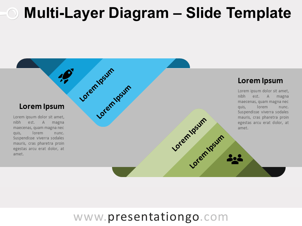 Free Multi-Layer Diagram - Slide for PowerPoint