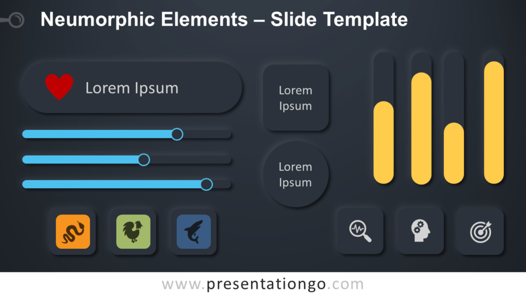 Free Neumorphic Elements Infographic for PowerPoint and Google Slides