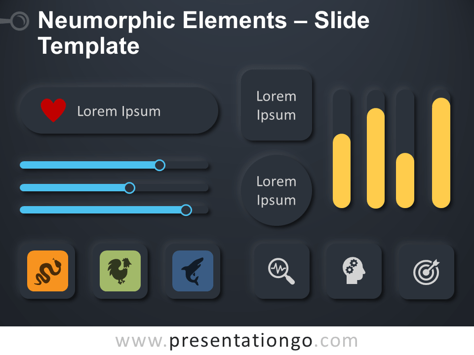 Free Neumorphic Elements Infographic for PowerPoint