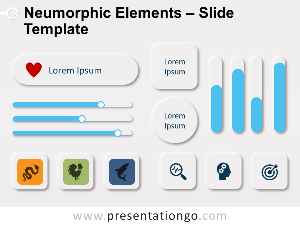 Free Neumorphic Elements for PowerPoint